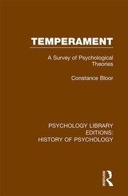 Temperament: A Survey of Psychological Theories