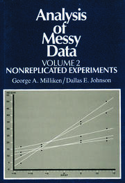 Analysis of Messy Data, Volume II: Nonreplicated Experiments