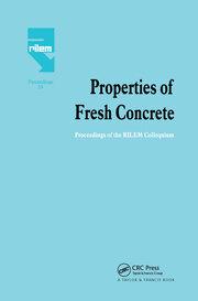 Properties of Fresh Concrete: Proceedings of the International RILEM Colloquium