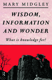 WISDOM INFORMATION & WONDER - 1st Edition book cover