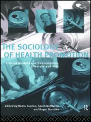 Sociological critiques of health promotlon