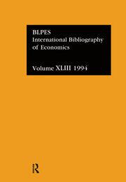 IBSS: Economics: 1994 Vol 43