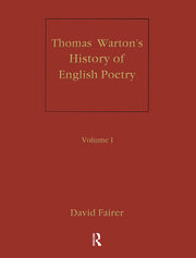 Warton's History of English Poetry