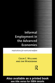 INFORMAL EMPLOY ADVANCED ECONS - 1st Edition book cover