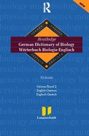 German Dictionary of Biology Vol 2: (English-German) Vol 2