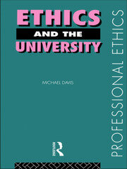 Ethics and the University