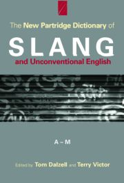 PARTRIDGE DICTIONARY OF SLANG - 1st Edition book cover
