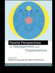 Realist Perspectives on Management and Organisations