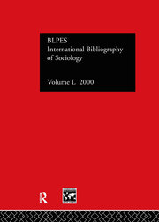 IBSS: Sociology: 2000 Vol.50