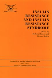 Insulin Resistance and Insulin Resistance Syndrome - 1st Edition book cover