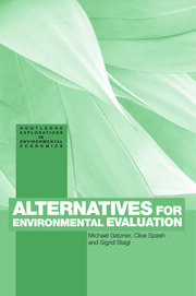 Alternatives for Environmental Valuation: Getzner - 1st Edition book cover
