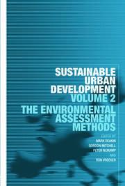 Sustainable Urban Development Volume 2: The Environmental Assessment Methods