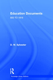 Education Documents: ENGLAND AND WALES 800 TO 1972