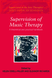 Supervision of Music Therapy: A Theoretical and Practical Handbook