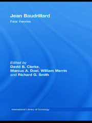 Jean Baudrillard, Clarke et al RPD - 1st Edition book cover