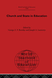 World Yearbook of Education 1966: Church and State in Education