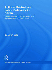 Political Protest and Labor Solidarity in Korea: White-Collar Labor Movements after Democratization (1987-1995)