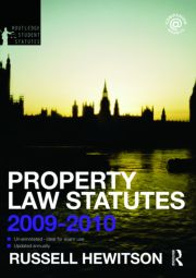 Property Law Statutes 2009-2010