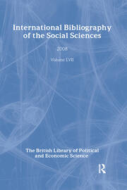 IBSS: Political Science: 2008 Vol.57: International Bibliography of the Social Sciences