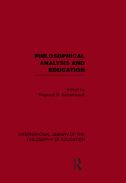 International Library of the Philosophy of Education