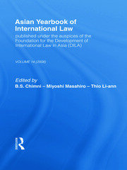 Asian Yearbook of International Law: Volume 14 (2008)