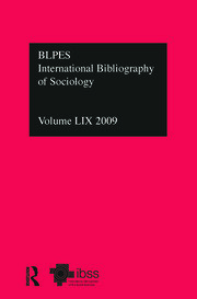 IBSS: Sociology: 2009 Vol.59: International Bibliography of the Social Sciences
