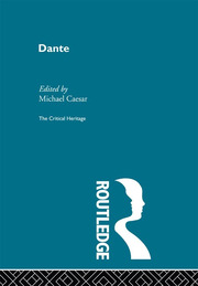 Dante's reception abroad in the sixteenth century; the special case of Protestant readings