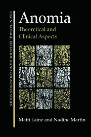 Anomia: Theoretical and Clinical Aspects