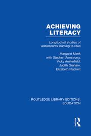 Achieving Literacy (RLE Edu I): Longitudinal Studies of Adolescents Learning to Read