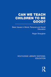 Can We Teach Children to be Good? (RLE Edu K)