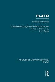 Plato: Timaeus and Critias (RLE: Plato)