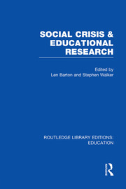 Social Crisis and Educational Research (RLE Edu L)