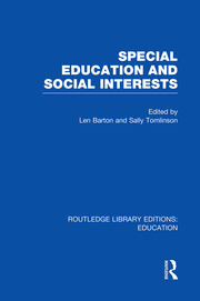 Special Education and Social Interests (RLE Edu M)
