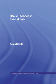 Racial Theories in Fascist Italy
