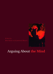 Arguing About the Mind