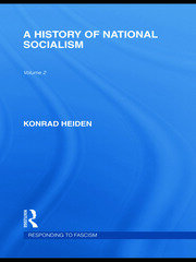A History of National Socialism (RLE Responding to Fascism)