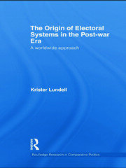 The Origin of Electoral Systems in the Postwar Era: A worldwide approach