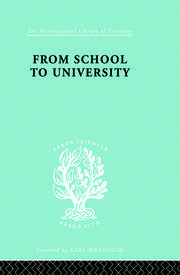 From School to University: A Study with Special Reference to University Entrance