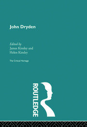 Dryden on The Kind Keeper 1677, 1680