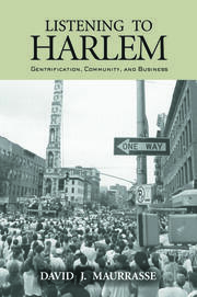 LISTENING TO HARLEM - 1st Edition book cover