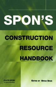 Spon's Construction Resource Handbook