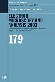 Electron Microscopy and Analysis 2003