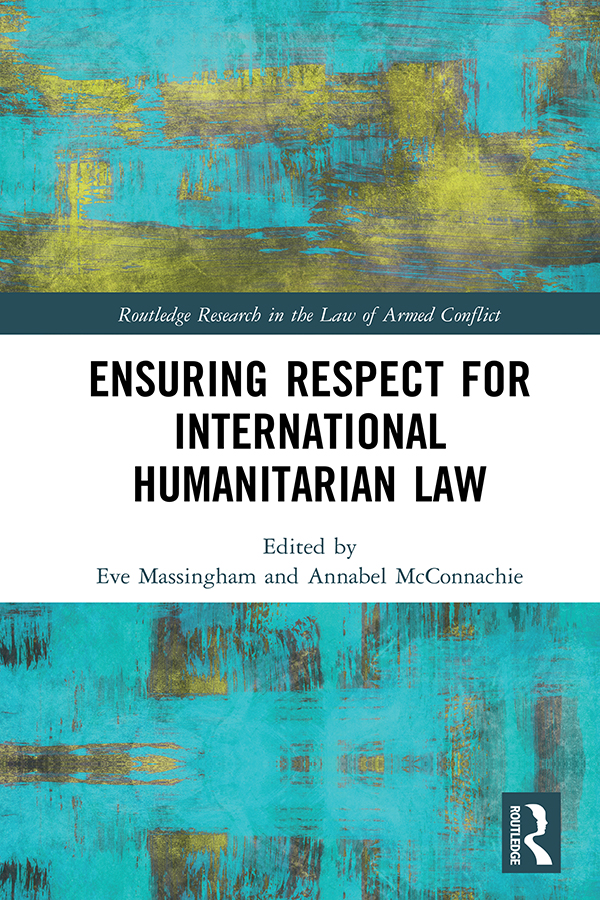The external                         dimension of Common Article 1 and the creation of international criminal                         tribunals