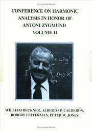 Conference Harmonic Analysis, Volume II