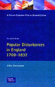 Popular Disturbances in England 1700-1832