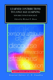Learner Contributions to Language Learning: New Directions in Research