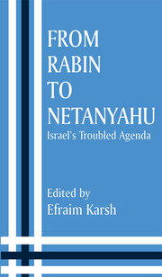 FROM RABIN TO NETANYAHU - 1st Edition book cover
