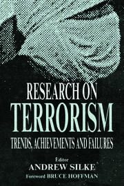 RESEARCH ON TERRORISM:TRENDS - 1st Edition book cover