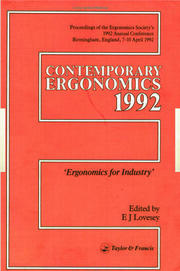 Contemporary Ergonomics: Ergonomics For Industry