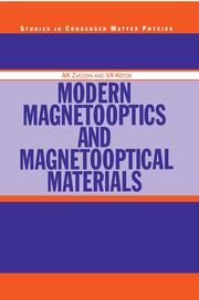 Modern Magnetooptics and Magnetooptical Materials